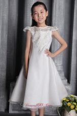 Custom Made Lace Bateau Pageant Flower Girl Dress