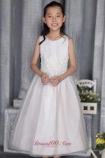 Organza Appliques Little Flower Girl Dress Scoop