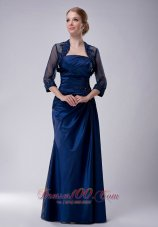 Navy Strapless Taffeta Mother Dress with Jacket