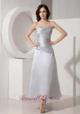 Silver Ankle-length Motb Dress Princess