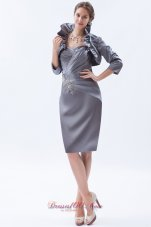 Flounced Jacket Beading Appliques Mother Bride Dress