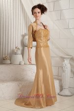 Delicated Bodice with Details Column Mothers Dress