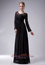 Black Empire Scoop Mother Of The Bride Dress Chiffon