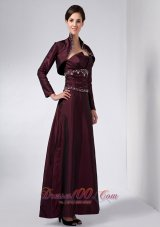 Special Neck Mother Of Bridal Dress With Empire Waist