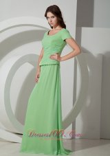 Spring Green With Short Sleeves Mother Of Bride Dress