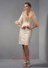 Jacket Ruch Champagne Short Mother Of The Bride Dress