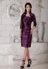 Ruch Purple Hand Made Flower Mother of the Bride Dress