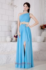 Empire Asymmetrical Ruched One Shoulder Prom / Evening Dress