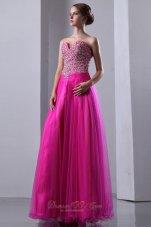 Prom Dress Elastic Wove Satin Beaded Bodice Organza