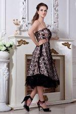 Prom Dress A-line / Princess Spaghetti Straps Black Lace