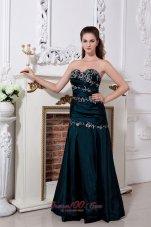 Homecoming Dress Column / Sheath Ruched Appliques Prom Dress