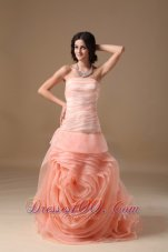 Wedding Dress Organza swirled Flower with Pleating