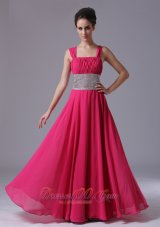 Beaded Decorate Prom Dress Straps Wide Waistband