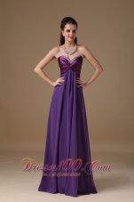 Taffeta and Chiffon Beading Prom Dress Empire