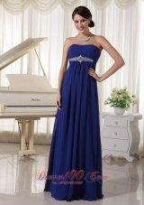 Empire Beaded Prom Dress For Formal Strapless