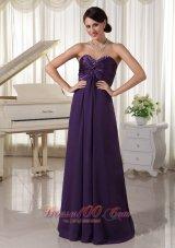 Taffeta and Chiffon Beaded Bustline Prom / Evening Dress
