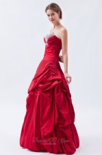 Wine Red Sheath Prom Dress Sequins Crystal Over