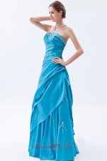 Pretty Teal A-line Prom Dress for Formal Beading