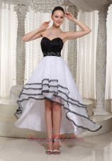 Black and White High-low Homecoming Dress Belt