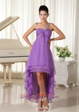 One Shoulder For 2013 High-low Prom Dress Beads