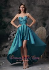 eal Hi-low Appliques Homecoming Dress For Prom
