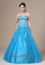 2013 Prom Evening Dress Beading A-line Sweetheart