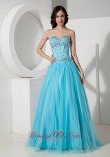 Light Blue Quinceanera Dress Beading For Cheap