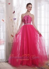 Ruffled Beading Tulle Celebrity Dress Designers