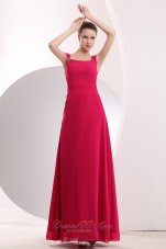 Empire Straps Bridesmaid Dress 2013 Hot Pink Beaded