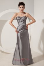 Satin Grey Beads 2013 Prom Dress with High Quality