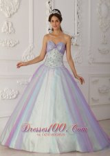 Sweetheart Multi-color A-line Beading Sweet 15 Dress