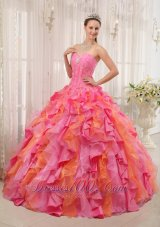 Sweetheart Beading Multi-color Quinceanera Dress Ball Gown