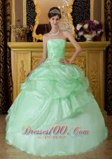 Apple Green Pick-ups Sweetheart Sweet 16 Dress
