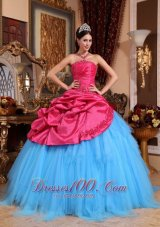 Colorful Quinceanera Gown Strapless Appliques with Beading