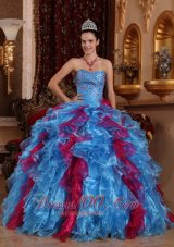 2013 Exclusive Organza Beading Dress Up for Quinceaneras