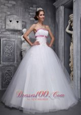 White Sweet 16 Dress Appliques Beading Taffeta and Tulle