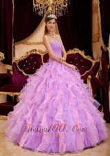 Lavender Quinceanera Dress Sweetheart Beading Floor-length