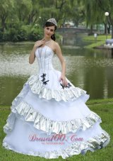 White Appliques Quinceanera Dress for Cheap
