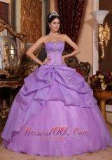 Around 200 Lavender Quinceanera Dress Beading Appliques
