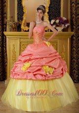 Watermelon and Yellow Sweet 16 Dress Pick-ups