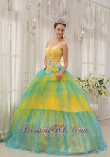 New Quinceanera Dress Strapless Tulle Beading Ruch