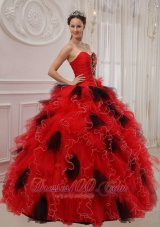 Beautiful Quinceanera Dress Sweetheart Orangza Beading Ruch