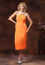 Orange Halter Dama Dresses for Quinceanera