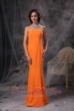 Cheap Orange Mermaid Evening Dress Under 150