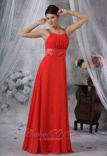 Trendy Straps Red Prom Dress Beading Seventeen