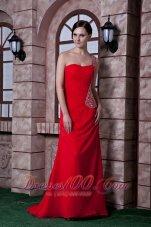 Beautiful One Shoulder Prom Dress Beading Back Cut