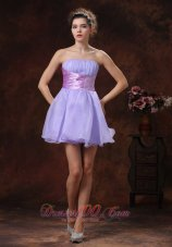 Ruched Waistband Corset Beaded Prom Gown