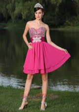Beaded Decorate Bust Prom / Cocktail Party Dress
