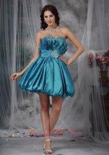 Fan Pattern Princess Beading Prom / Homecoming Dress