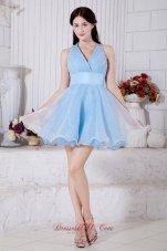 Princess V-neck Mini Pleat Prom / Homecoming Dress